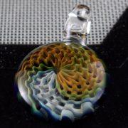 Gold and Silver Fume Reticello pendant