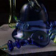 Pop D Glass Art 18mm Male Recycler