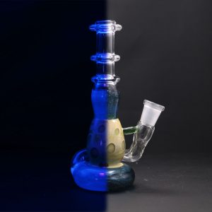 little pot glass atomic blue stardust micro