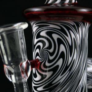 Philpot Glassworks Custom Black and White Spinnerjet