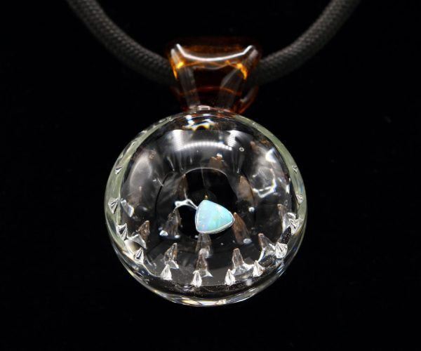 Shana Glassgirl Bubble Spike Opal Pendant