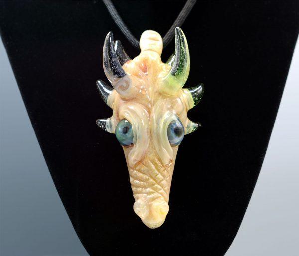 Kiebler CFL shifty dragon head pendant