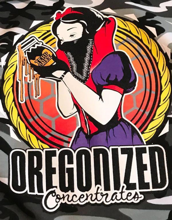 Oregonized Apparel Deep Black Camo Sauce Princess Hoodie