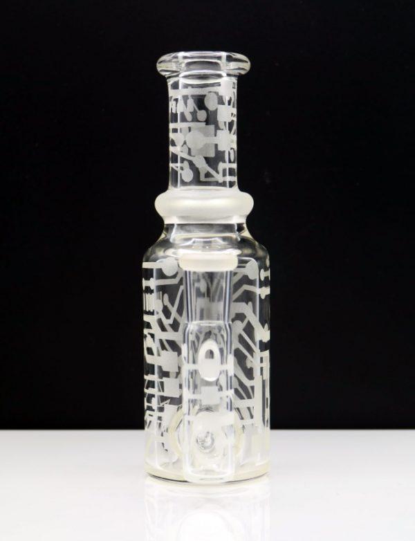 Poison Glass Custom Sandblasted Bottle