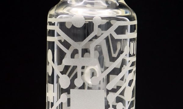 Poison Glass Custom Sandblasted Bottle