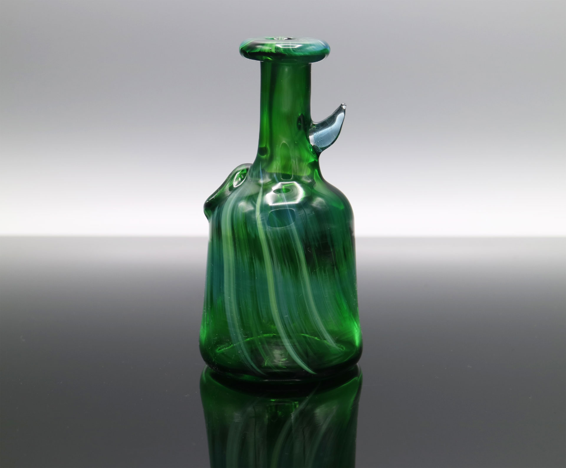 Glassmith – Experimental Green Pocket Bottle