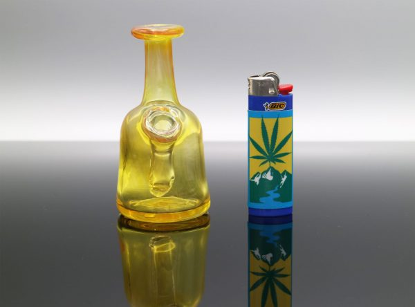 Glassmith Transparent Yellow Pocket Bottle
