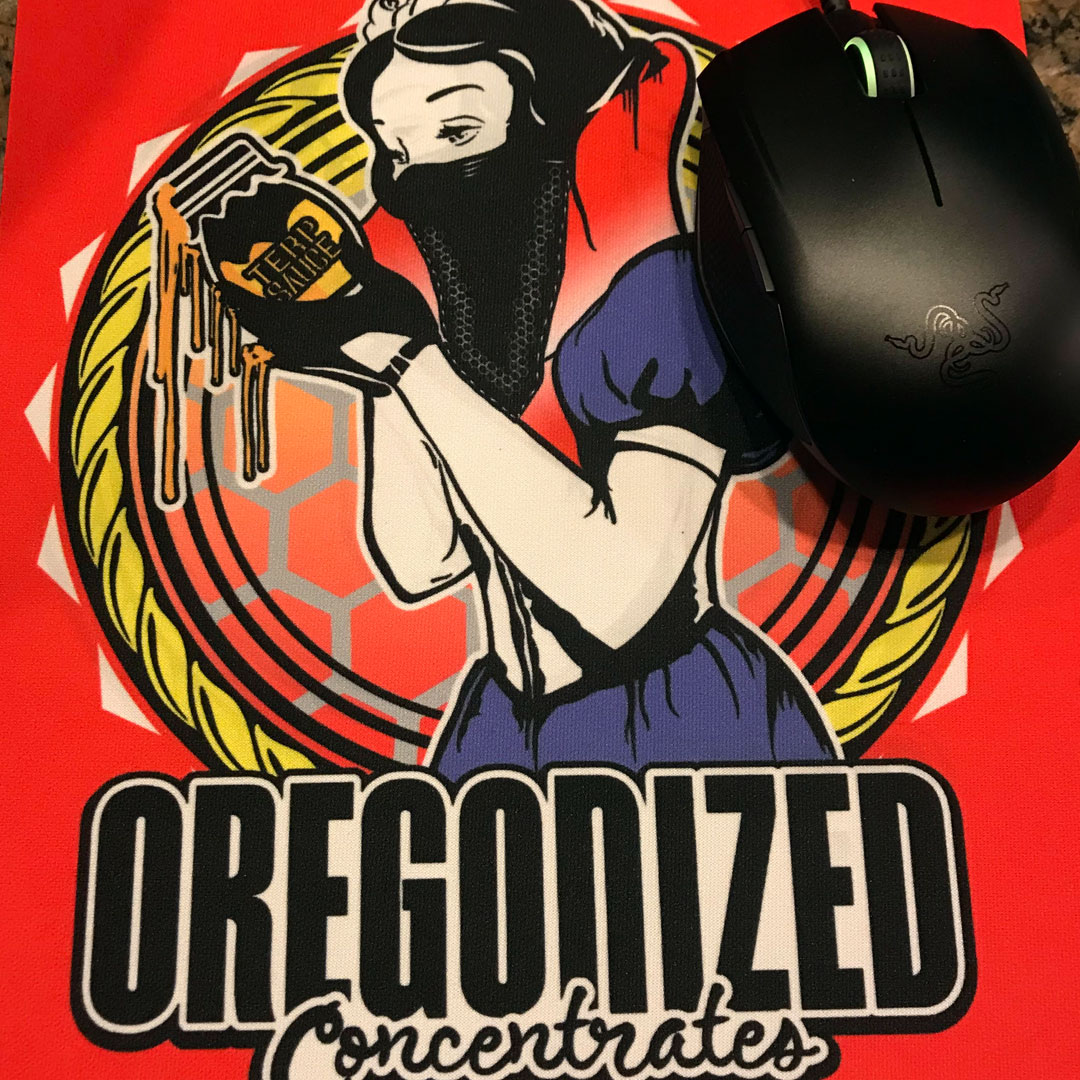 Oregonized Glass Mat & Crypto Mouse Pad