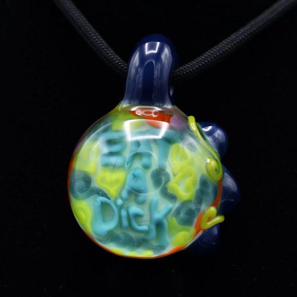 Junebug Glass Eat a Dick Pendant