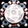 Kaja Glass Circletech Microspiral Shield Pendant