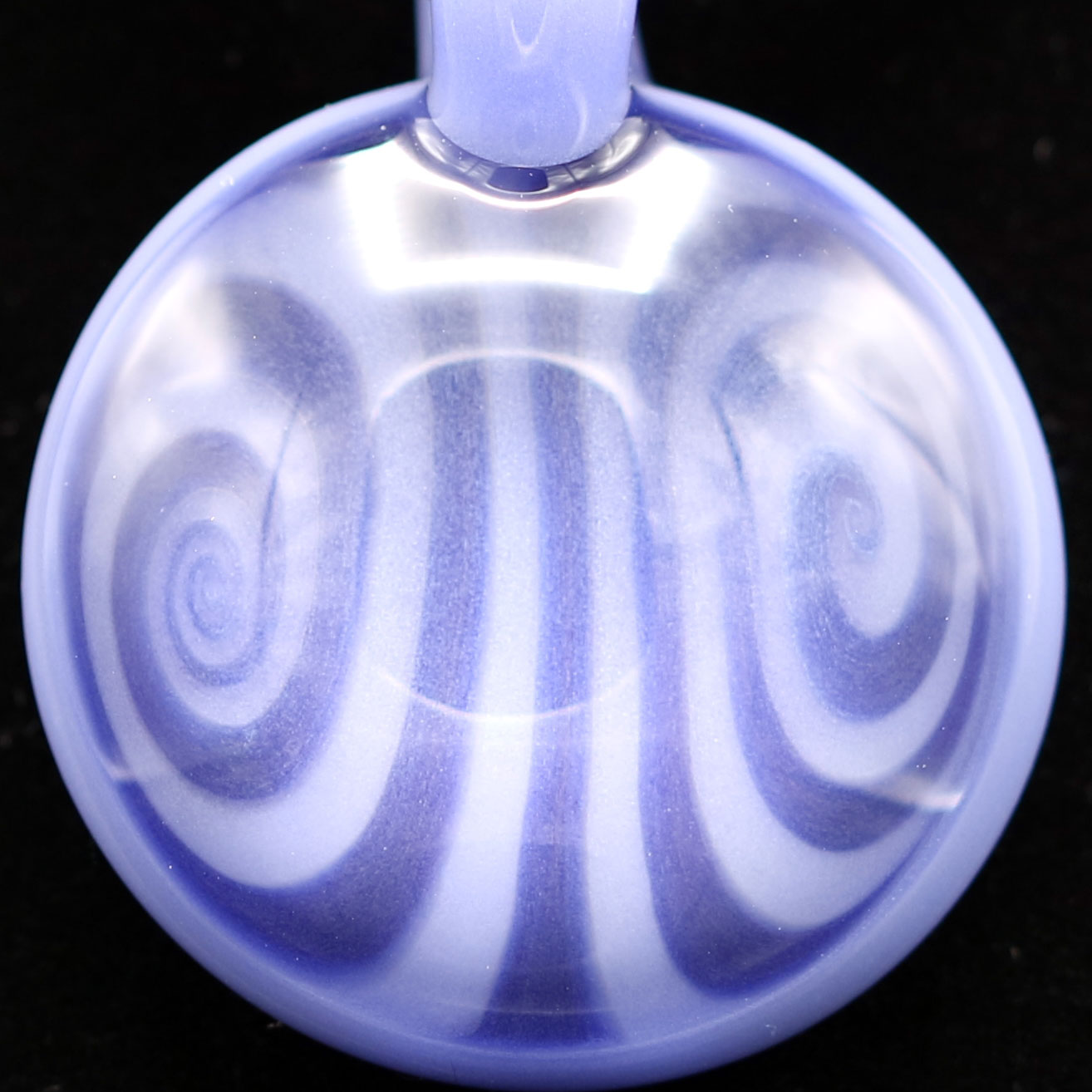"Kaja Glass – ""The Blues"" Opposing Spiral Pendant"