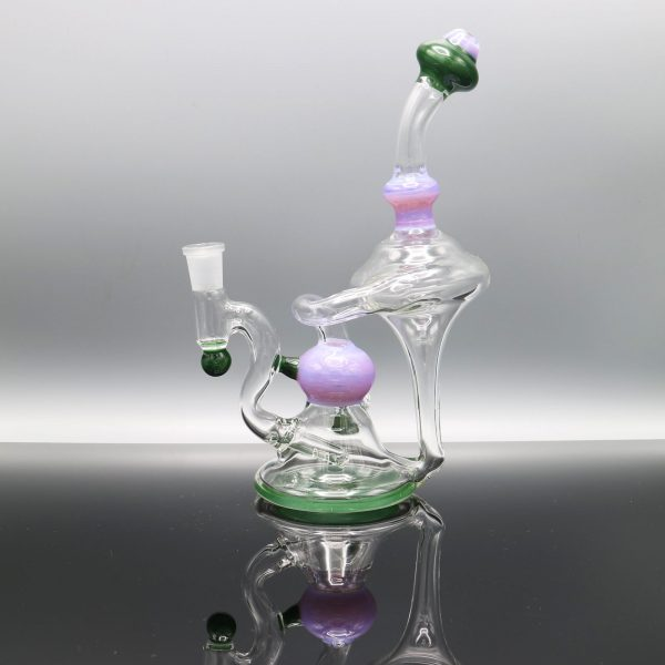 Chappell Glass Purple and Green Recycler