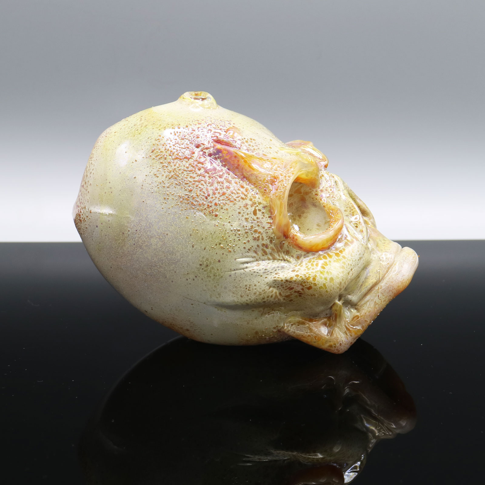Jonny Carrcass – Mini Functional One Eyed Skull Sculpture