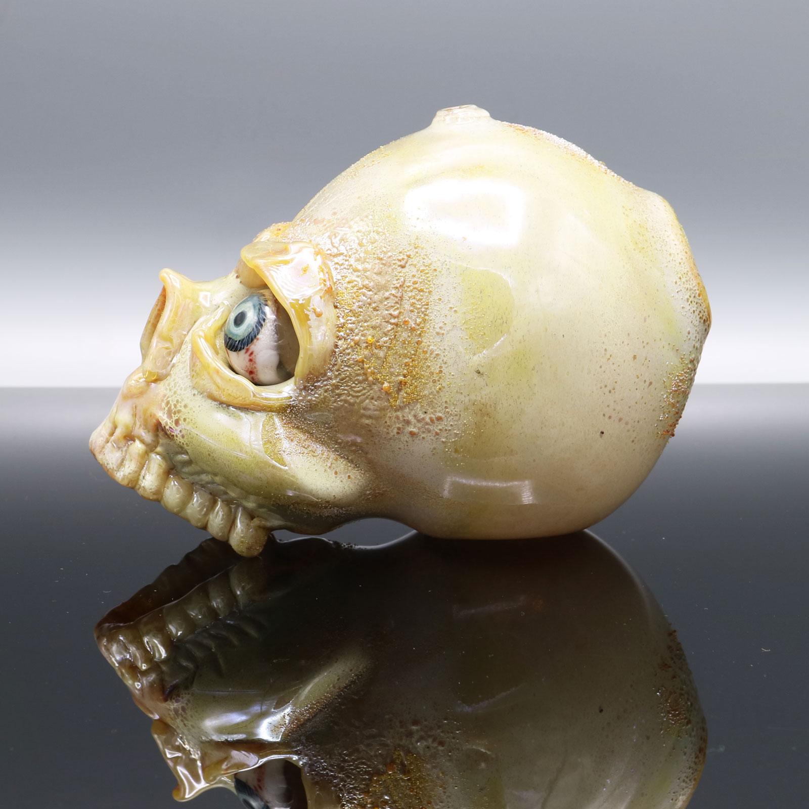 Jonny Carrcass – Functional One Eye Skull Sculpture