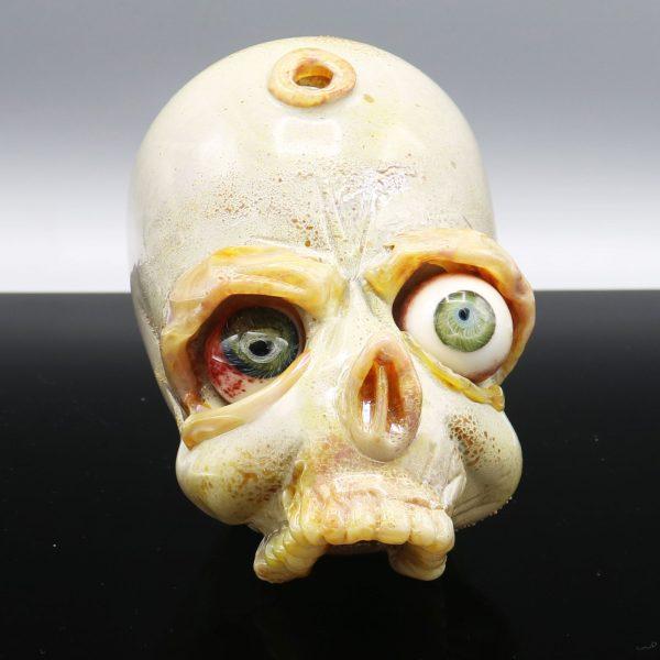 Jonny Carrcass Two Eye Functional Skull Sculpture