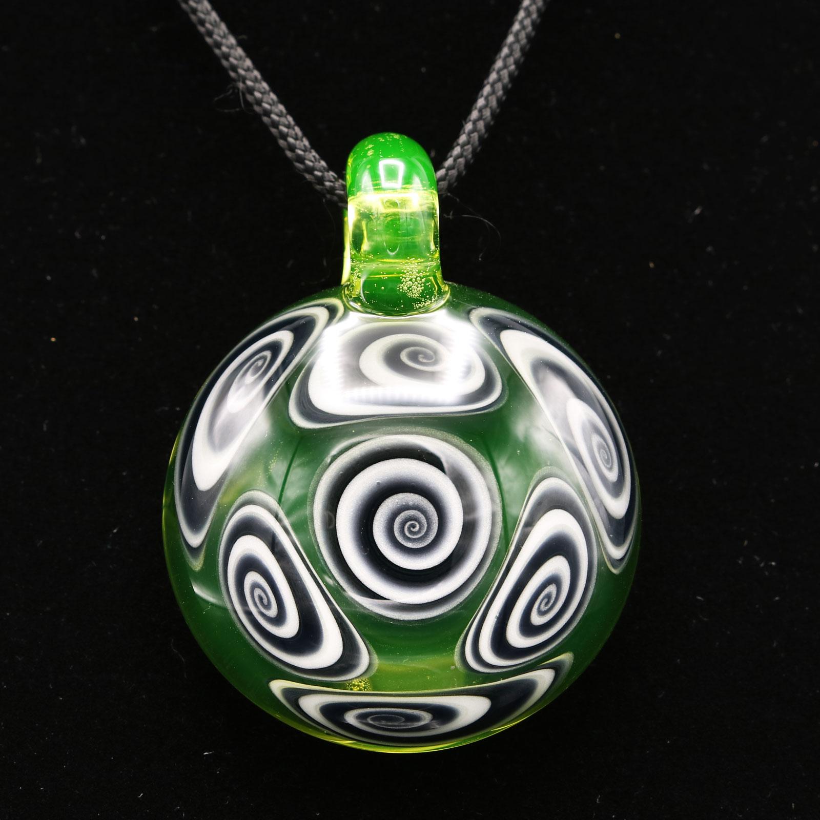 Kaja Glass – 7 Section Illuminati Microspiral Pendant