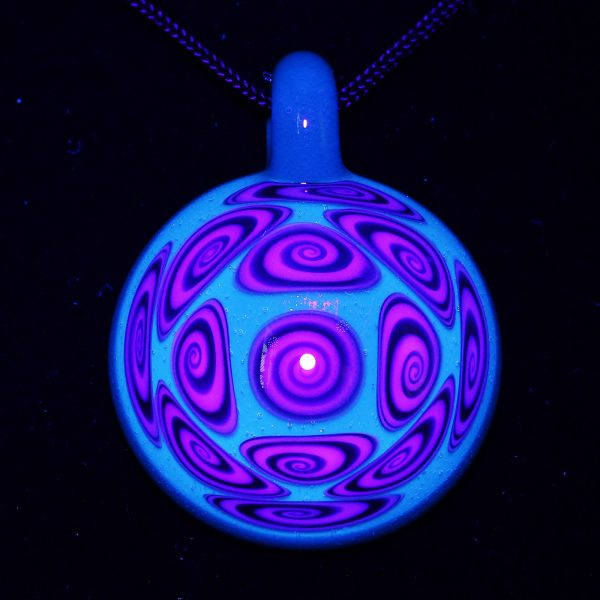 Kaja Glass 13 Section Atomic Stardust Microspiral Glass Pendant