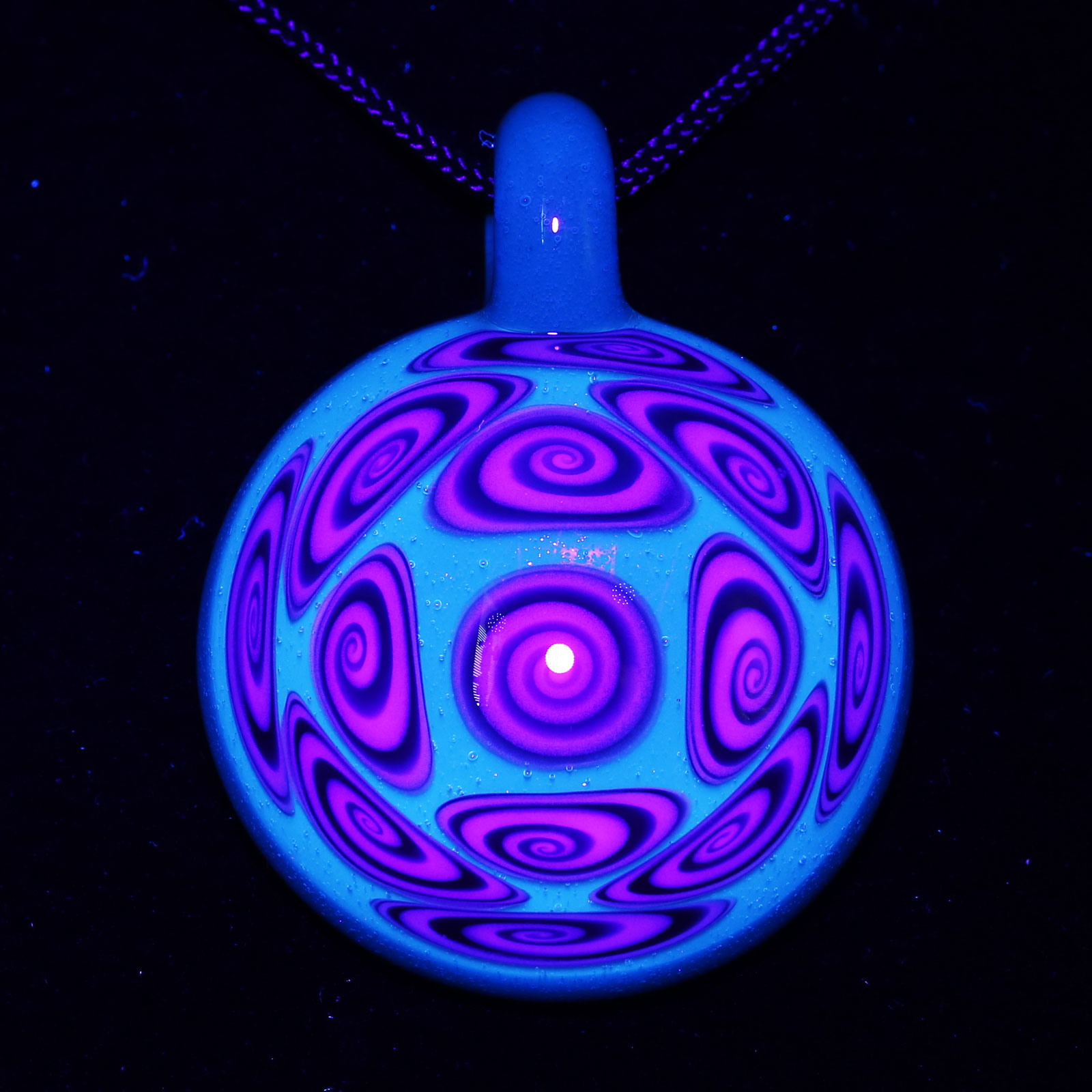 Kaja Glass – 13 Section XL Atomic Stardust Microspiral Pendant