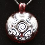 Kaja Glass 9 Section Red and UV Matching Microspiral Glass Pendant