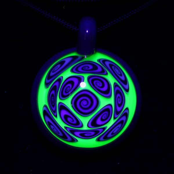 Kaja Glass Illuminati over Spruce Microspiral Glass Pendant