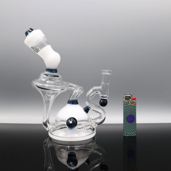 Chappell Glass White and Blue Recycler