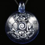 Kaja Glass 17 Section Bluemingo Microspiral Glass Pendant