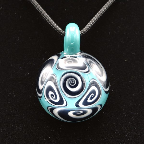 Kaja Glass 7 section microspiral glass pendant