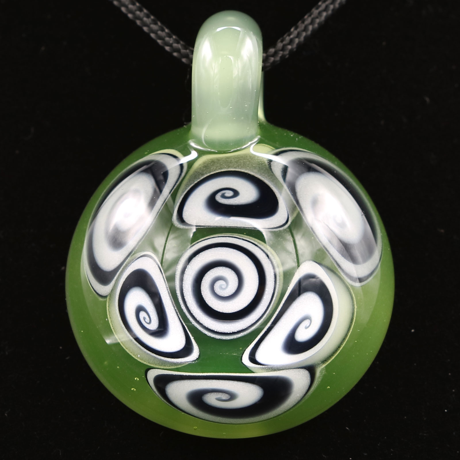 Kaja Glass – 7 Section UV CFL Microspiral Glass Pendant