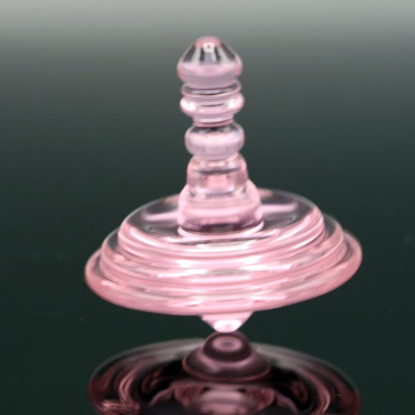 Mike Philpot Pink Spinning Glass Top