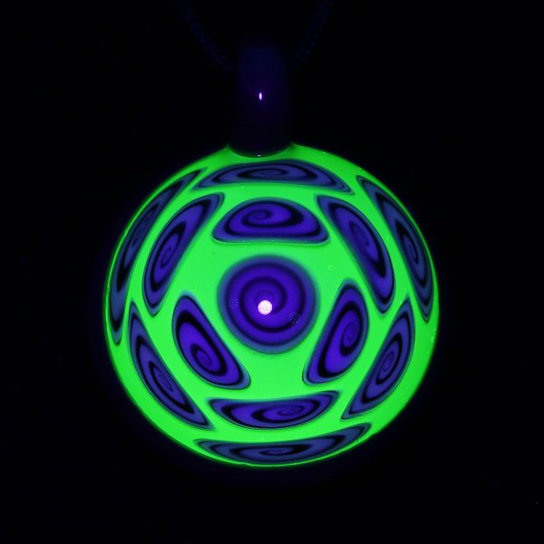 Kaja Glass 13 Section Microspiral Tree Hugger Illuminati Glass Pendant