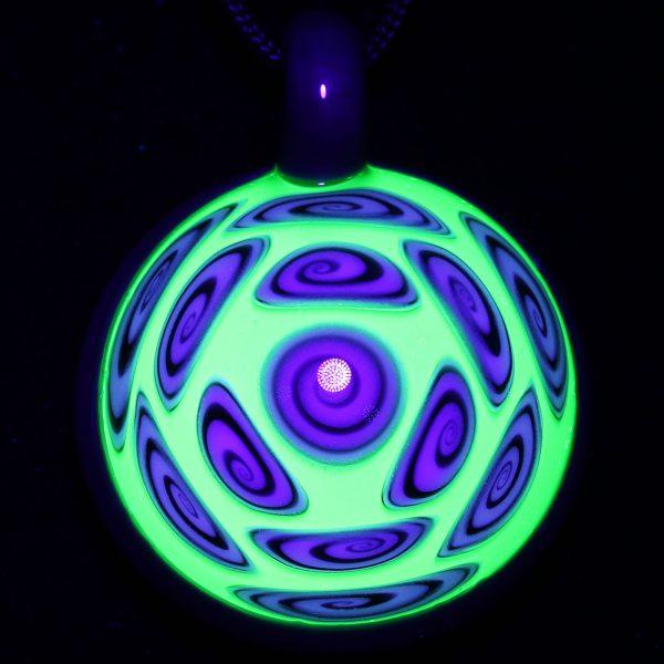 Kaja Glass 13 Section Microspiral Tree Hugger Illuminati Glass Pendant