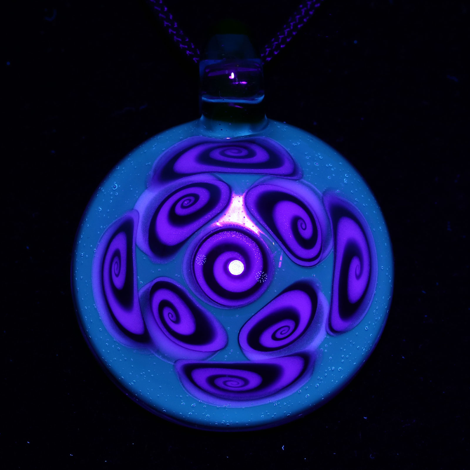 Kaja Glass – 9 Section Blu-V and Tonic Microspiral Pendant