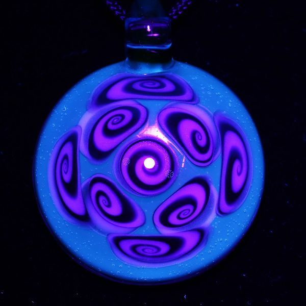 Kaja Glass 9 Section Blu-V and Tonic Microspiral Glass Pendant