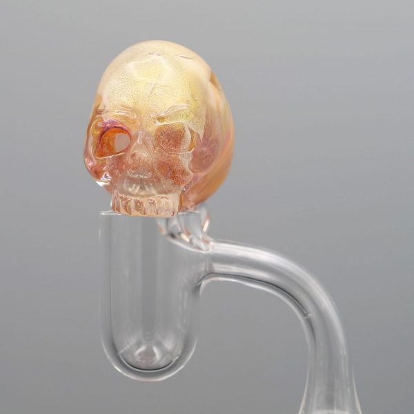 Jonny Carrcass Fumed Skull Bubble cap carb cap