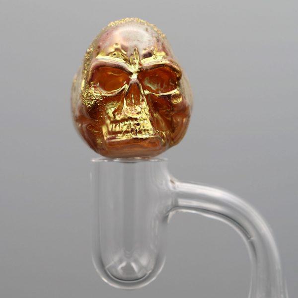 Jonny Carrcass Gold Fumed Skull Bubble cap