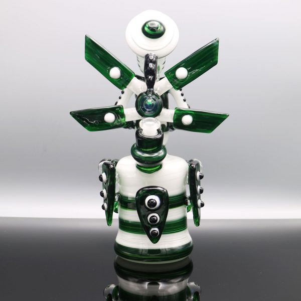 Kiebler Star White Experimental Green Functional Glass Mech