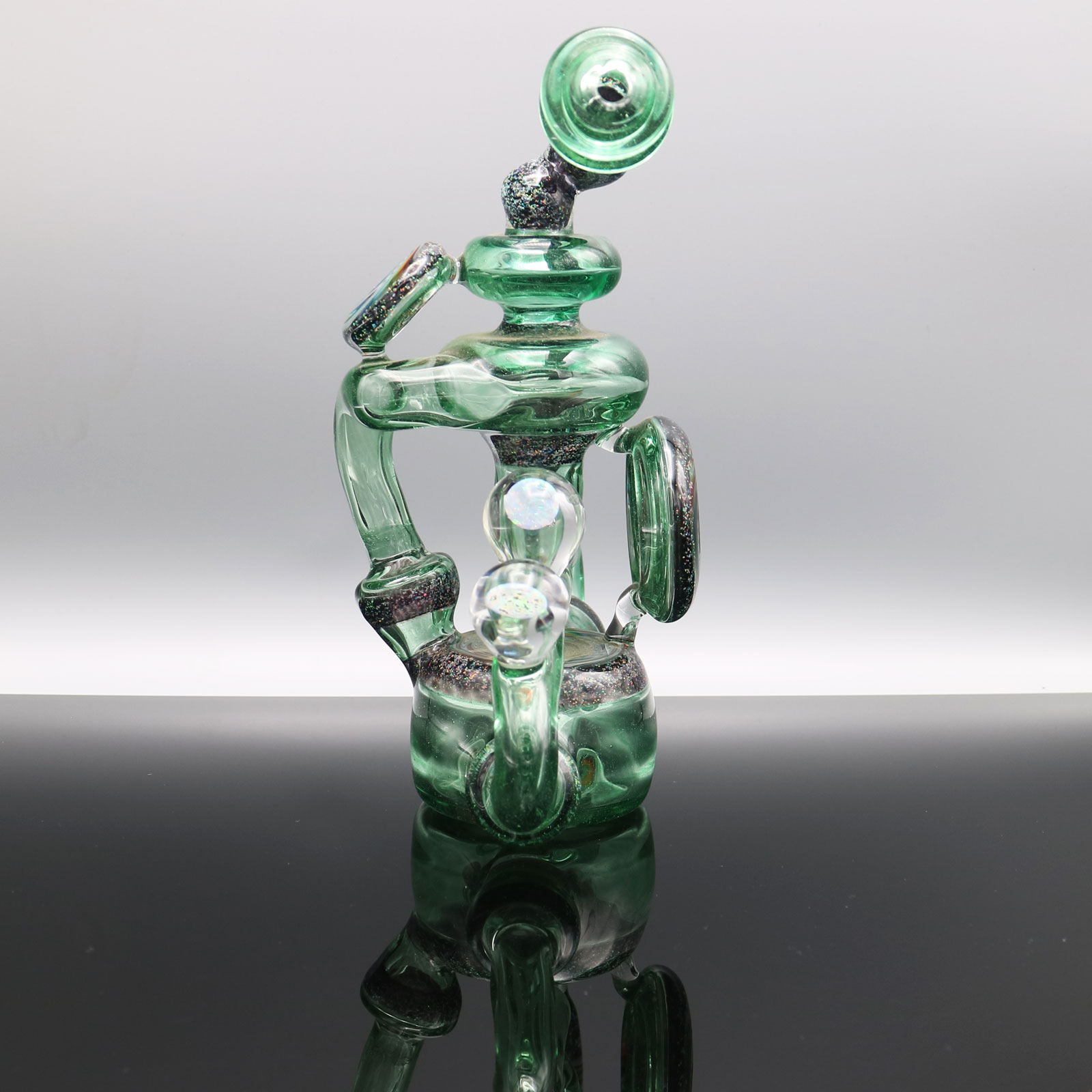 Chappell Glass – Green Stardust Crushed Opal Recycler