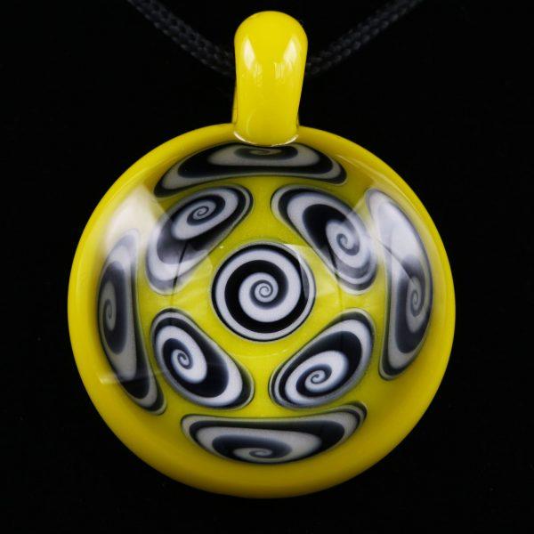 kaja-glass-9-section-canary-microspiral-pendant-1