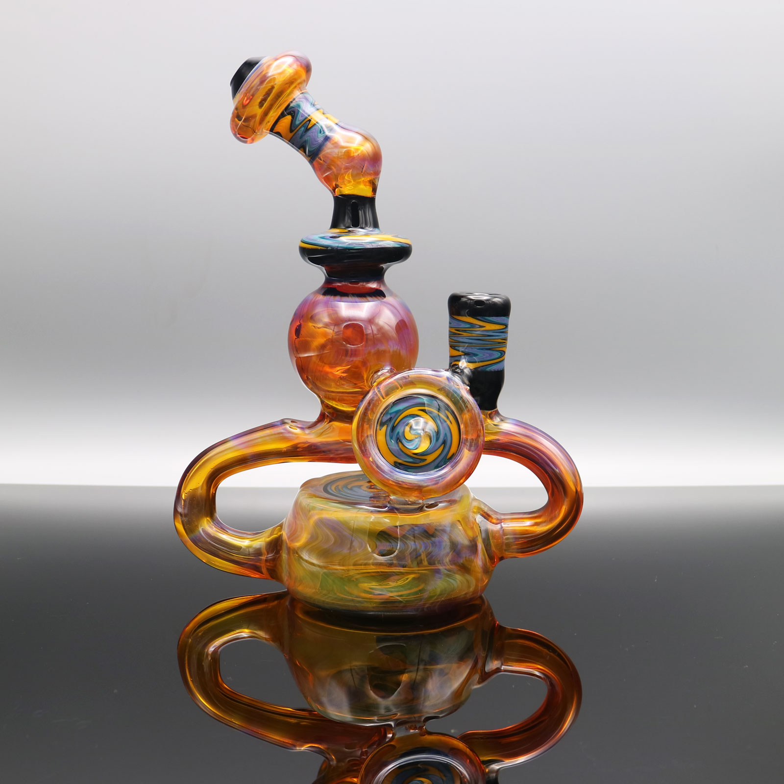 Chappell Glass – Amber Purple Recycler
