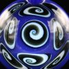 Kaja Glass Deja Blue 9 Section Microspiral Pendant