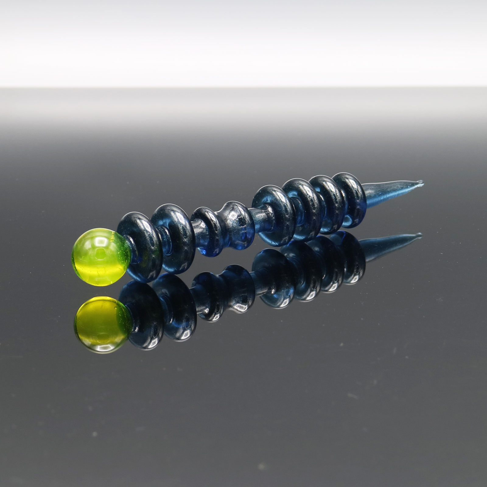 Czar Glass – Blue Stardust Solar Flare Point Tool