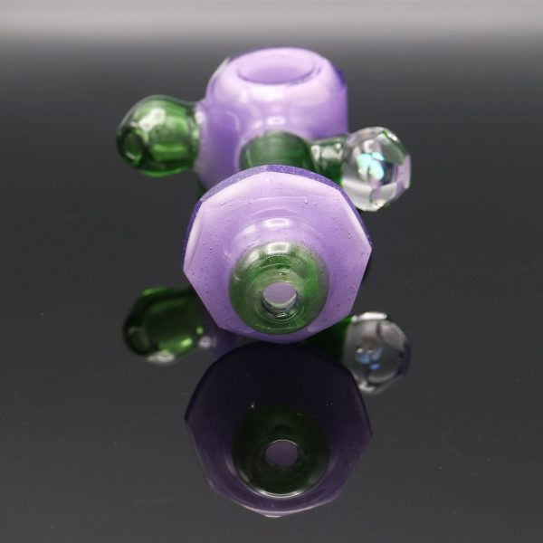 Chappell-Glass-Faceted-green-purple-hammer-1
