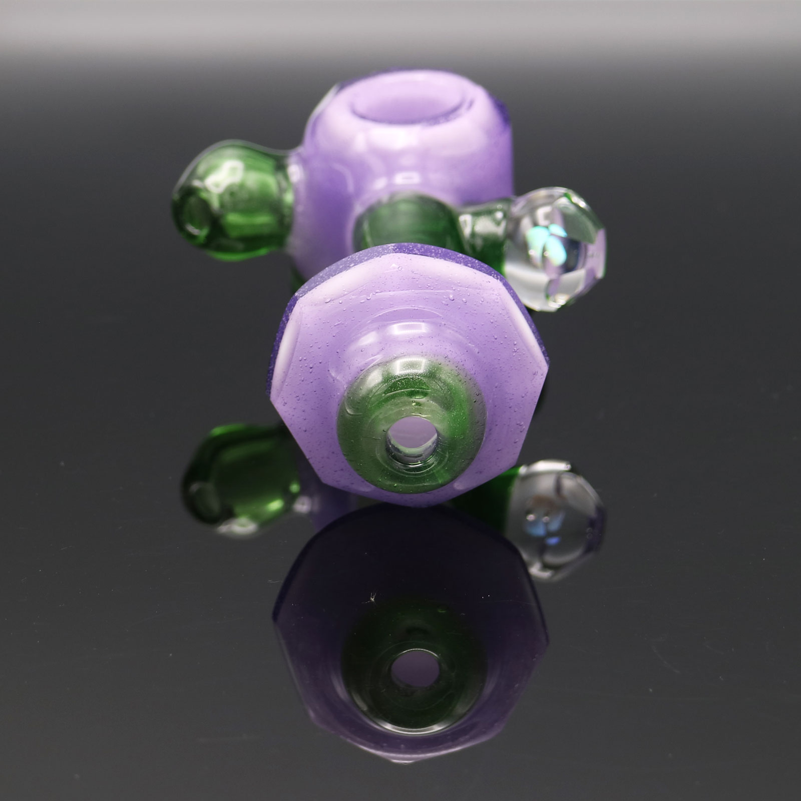 Chappell Glass – Faceted Purple and Green Hammer