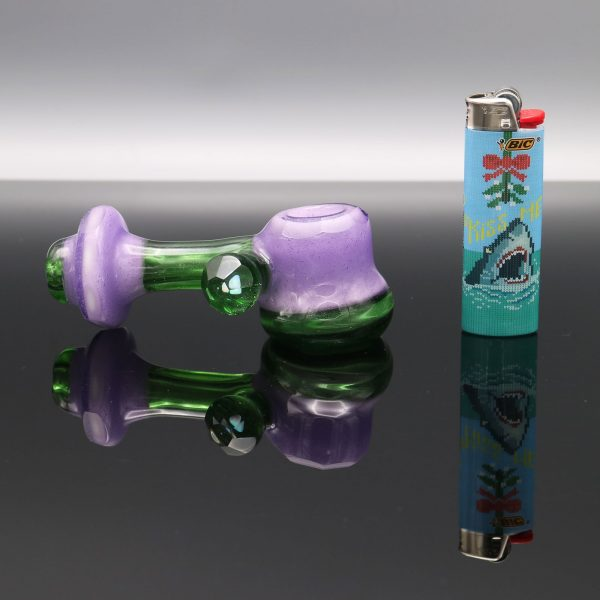 Chappell-Glass-Faceted-green-purple-hammer-5