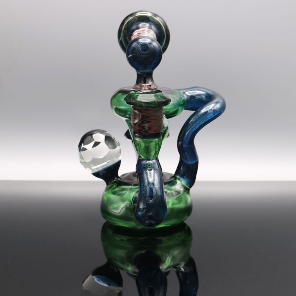 chappell-glass-blue-green-stardust-faceted-recycler-1
