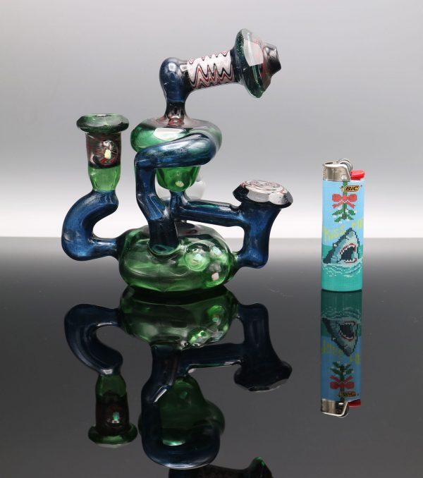 chappell-glass-blue-green-stardust-faceted-recycler-3