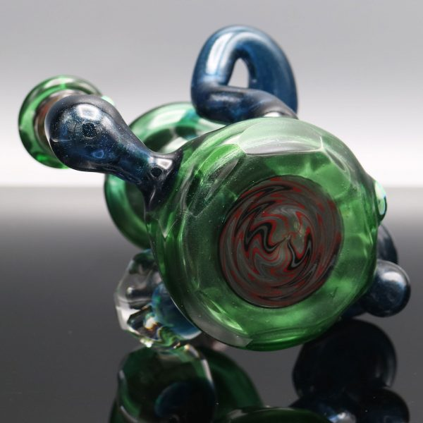 chappell-glass-blue-green-stardust-faceted-recycler-8