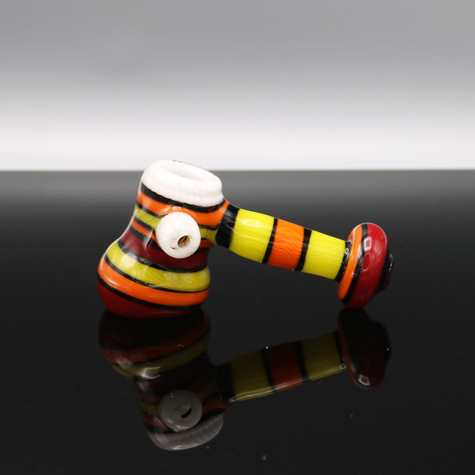 Chappell Glass – Red Yellow and Orange Encalmo Mini Hammer